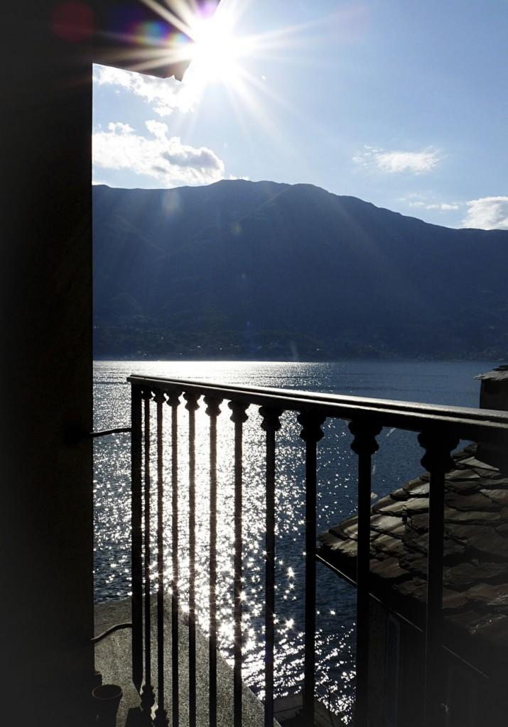 Aussicht vom Balkon in Corenno Plinio_1
