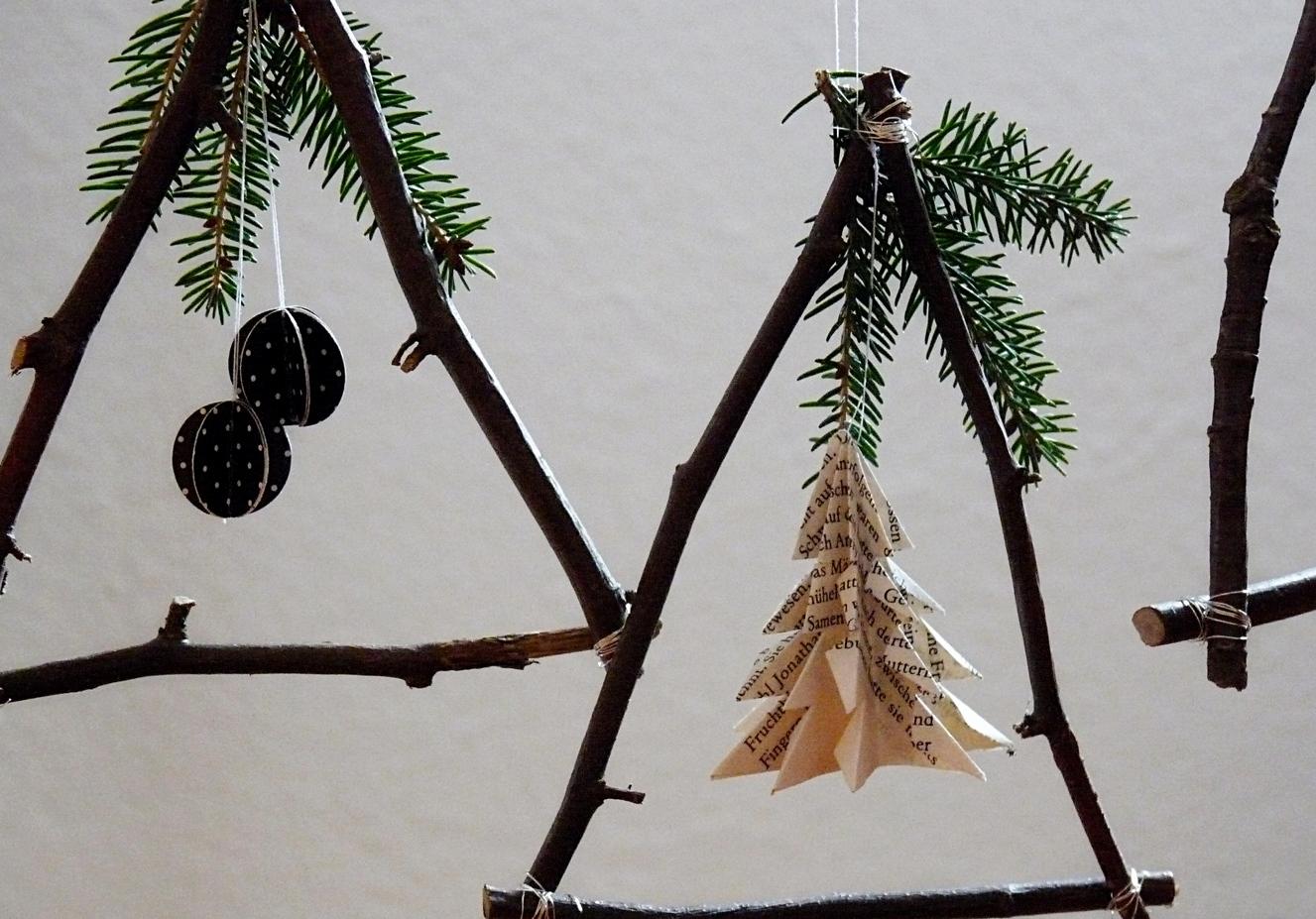 weihnachtsbastelei aus zweigen my morningsun. Black Bedroom Furniture Sets. Home Design Ideas