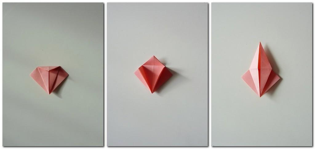 Bastelanleitung Kranich Origami 3