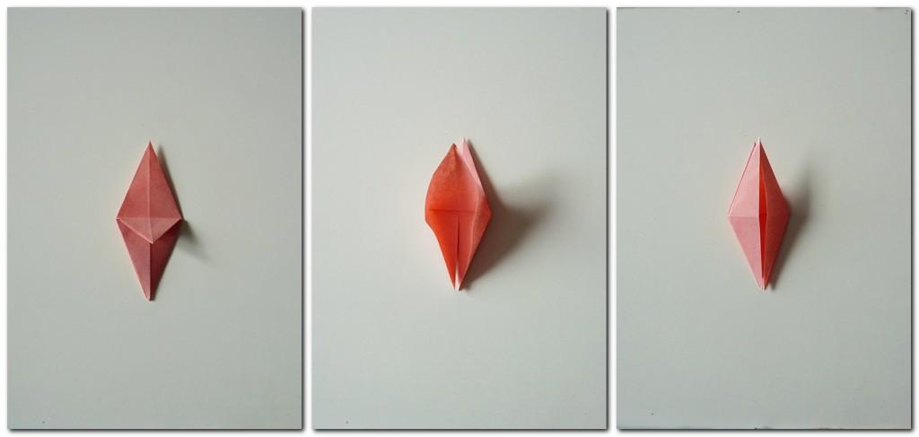 Bastelanleitung Kranich Origami 4