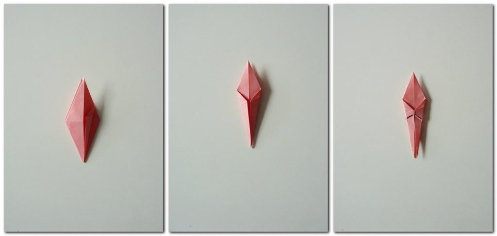 Bastelanleitung Kranich Origami 5