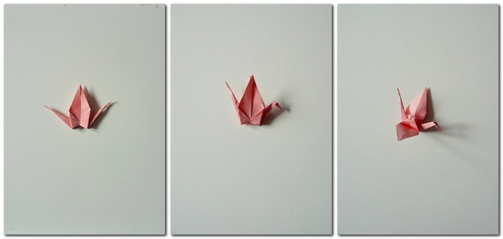 Bastelanleitung Kranich Origami 6