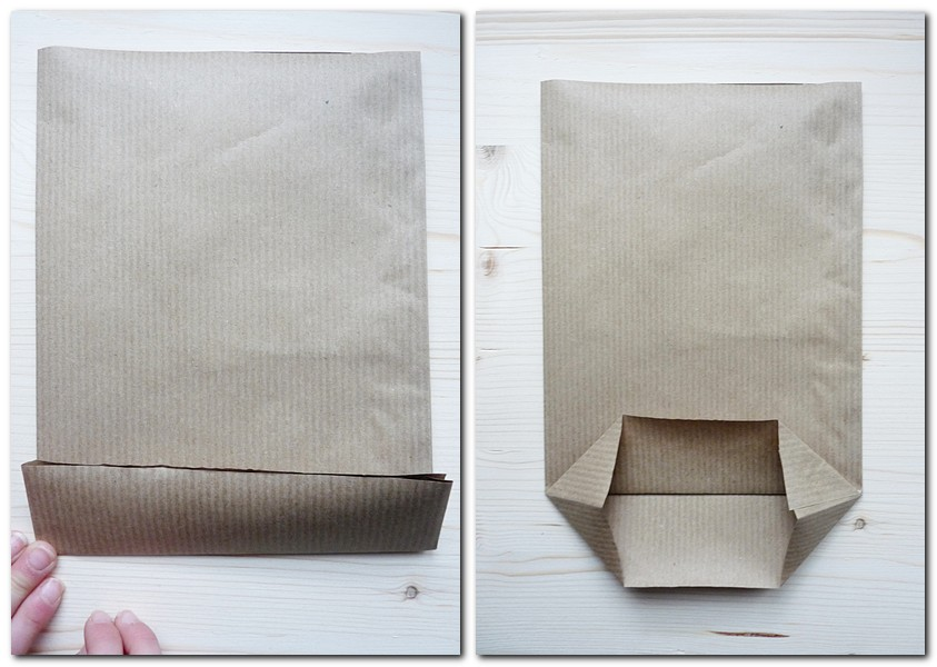 2. Schritt So faltet man eine Papiertüte