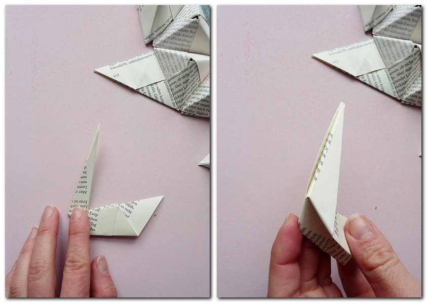 origami wandbild diy my morningsun. Black Bedroom Furniture Sets. Home Design Ideas