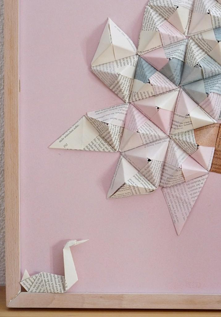 Origami Wandbild
