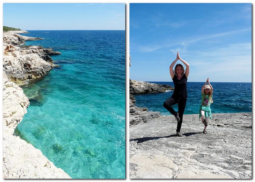 17_Yoga auf den Felsen am Kap Kamenjak
