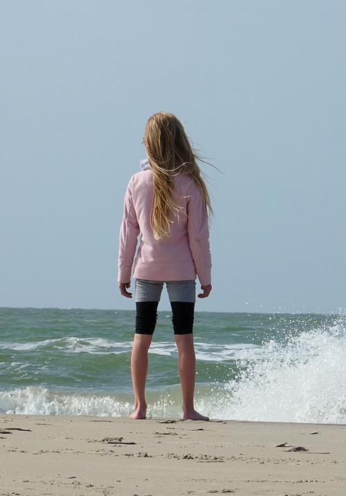 35_Robin schaut auf die Nordsee in renesse