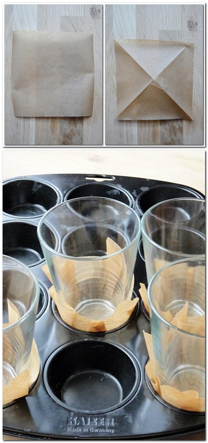 Anleitung für Muffinförmchen aus Backpapierk