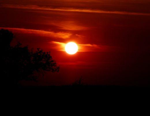 wundervoller Sonnenaufgang