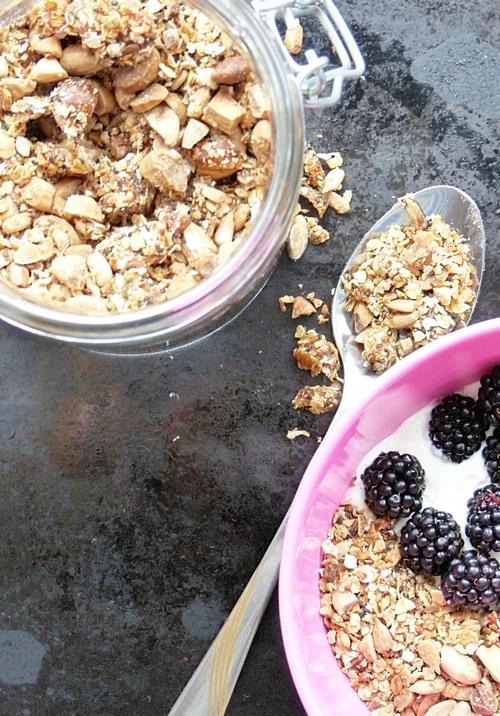 leckeres Rezept für Granola mit Basilikumsamen