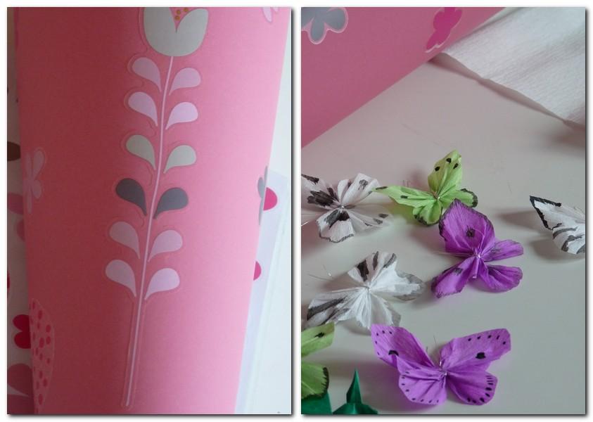 Schmetterline aus Transparentpapier