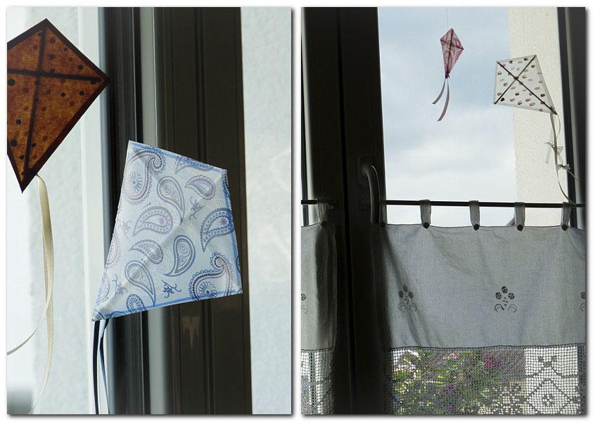 Drachen am Wohnzimmerfenster