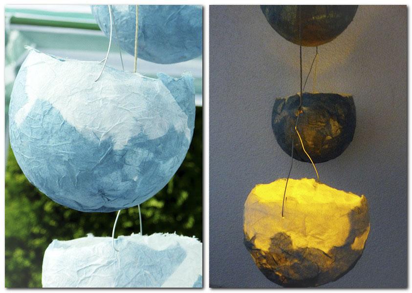 Lampions aus Strohseide