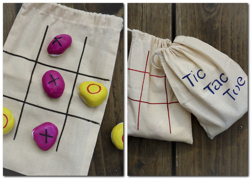 Tic Tac Toe im Säckchen als Mitnehmspiel