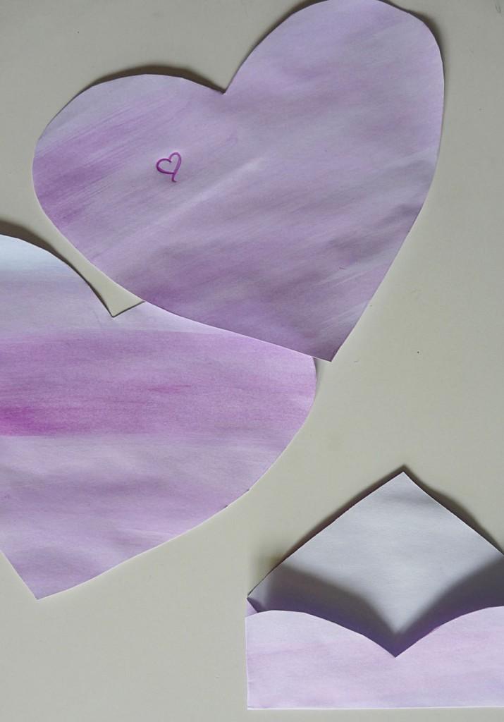 Karten aus Herzen falten