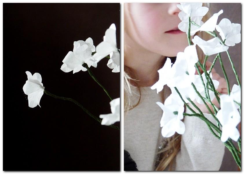 Papierblumen aus Strohseide