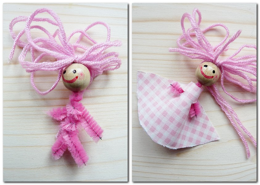 Ein Kleidchen für die kleine Puppe DIY