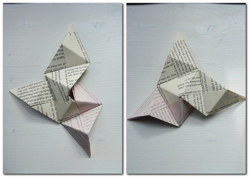 Origami Pyramide falten