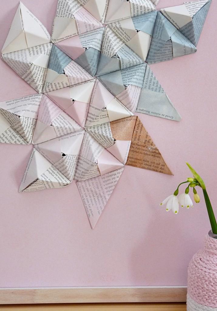 Pyramide basteln - Origamipyramide falten
