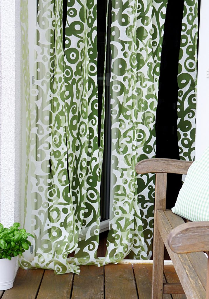 Türvorhang für die Terrasse selbst gemacht