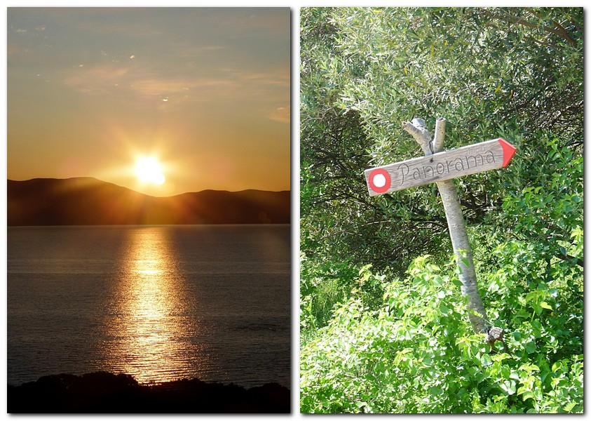 10_der Sonnenaufgang über dem Meer von unserem Balkon aus und der Wanderweg aus unserem Ort auf dem Tomareg