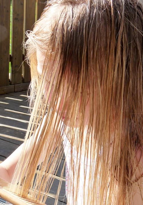 Kokosöl macht die Haare schön