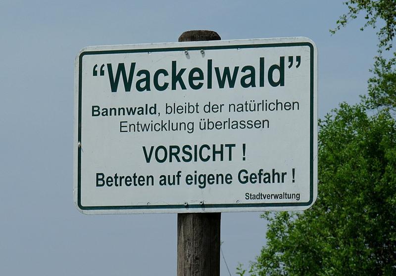 Schild Wackelwald