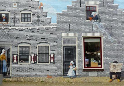 9_Eine bemalte Hauswand in Zierikzee auf Zeeland