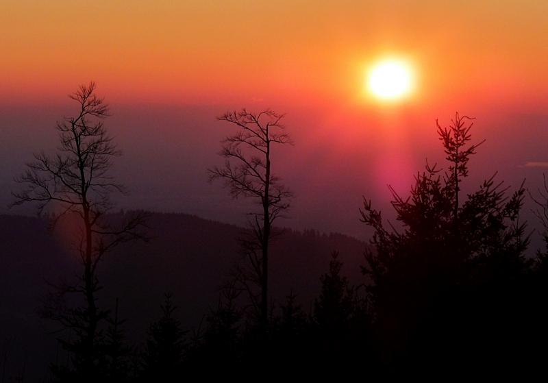 Sonnenuntergang Mummelsee Schwarzwald