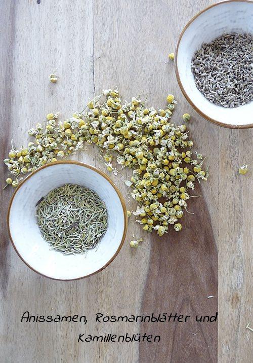 Herbal Steam Mischung aus Anissamen Kamille und Rosmarin