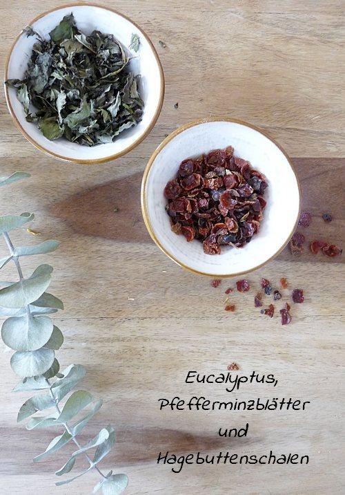Herbal Steam Mischung aus Eucalyptus Pfefferminze und Hagebutte